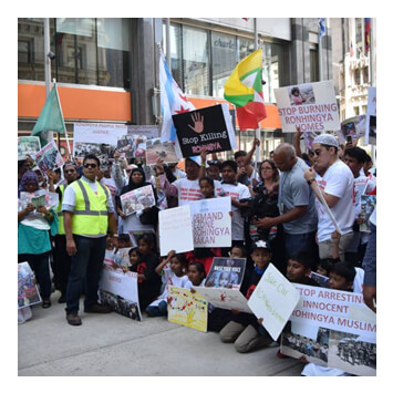 RCC Demonstration for Rohingya